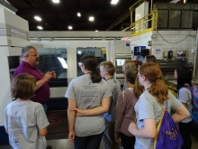 students learning about modern medical manufacturing